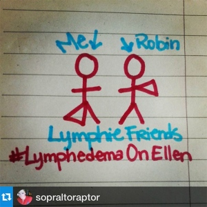 Drawing my new lymphie friend, Sarah, made of us! :)